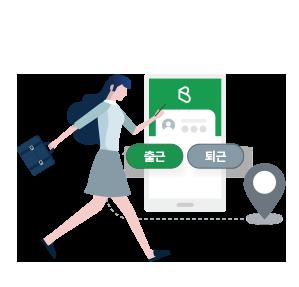 PC 및 모바일(GPS / IP)을 통한 정확한 출퇴근 관리